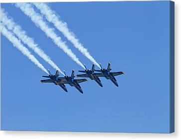 Wa, Seattle, The Blue Angels Canvas Print