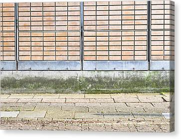 Wall Background Canvas Print by Tom Gowanlock