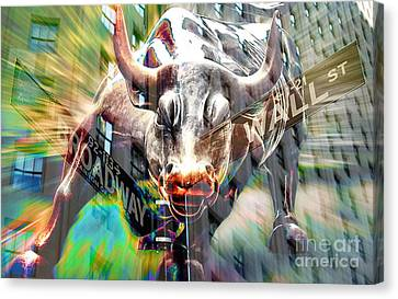 Wall Street Bull Canvas Print by Marvin Blaine