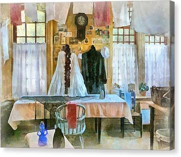 Laundry Canvas Print - Washday by Susan Savad