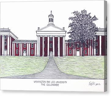 Washington And Lee University Canvas Print by Frederic Kohli
