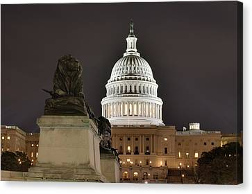 Washington Dc - Us Capitol - 01131 Canvas Print by DC Photographer