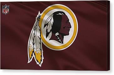Washington Redskins Uniform Canvas Print by Joe Hamilton