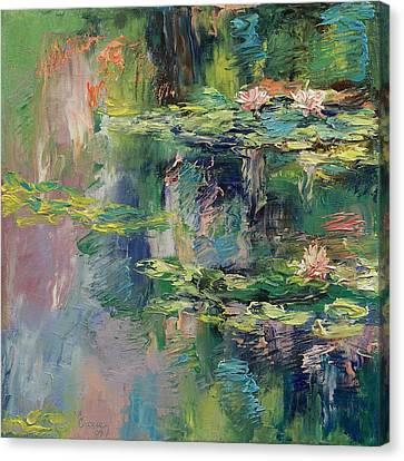 Water Lilies Canvas Print by Michael Creese