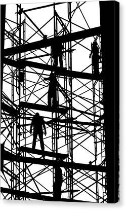 Water Tower Silhouette  Canvas Print by Allen Beatty