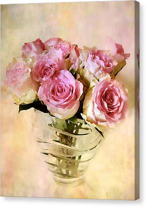 Watercolor Roses Canvas Print by Jessica Jenney