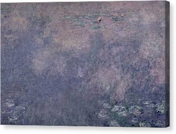 Weeping Willow Canvas Print - Waterlilies Two Weeping Willows by Claude Monet