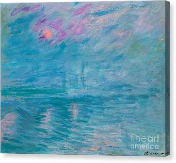 Waterloo Bridge Canvas Print by Claude Monet