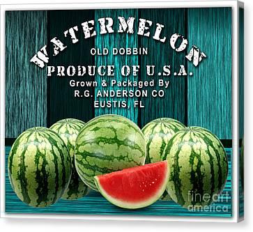 Watermelon Farm Canvas Print by Marvin Blaine