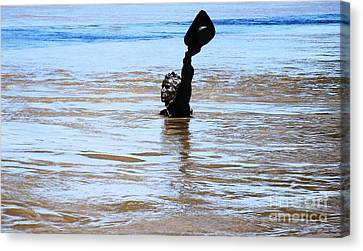 Canvas Print featuring the photograph Waters Up by Kelly Awad