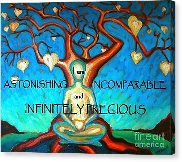 Canvas Print featuring the painting We Are Infinitely Precious by Janet McDonald