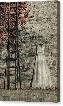 Wedding Dress Canvas Print by Joana Kruse