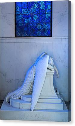 Metairie Cemetery Canvas Print - Weeping Angel II by Chris Moore