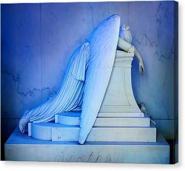 Metairie Cemetery Canvas Print - Weeping Angel IIi by Chris Moore