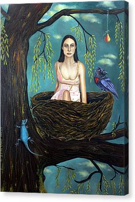 Weeping Willow Canvas Print by Leah Saulnier The Painting Maniac