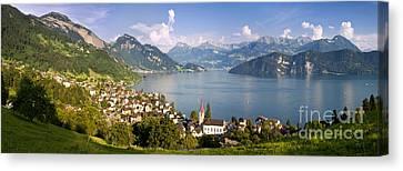 Weggis Switzerland Canvas Print by Brian Jannsen