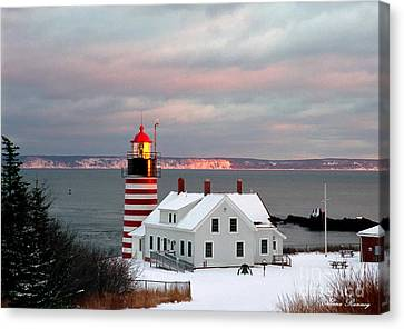West Quoddy Head Lighthouse Canvas Print by Alana Ranney