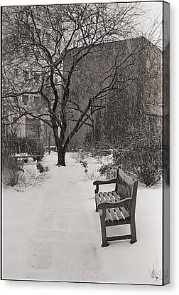 West Village Snow  Canvas Print by Julie VanDore