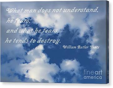 What Man Does Not Understand Canvas Print by Barbara Griffin