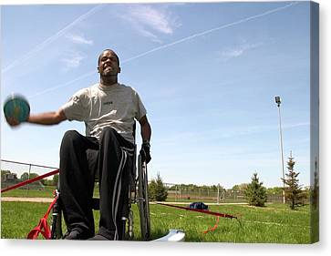 Wheelchair Athletics Canvas Print by Jim West