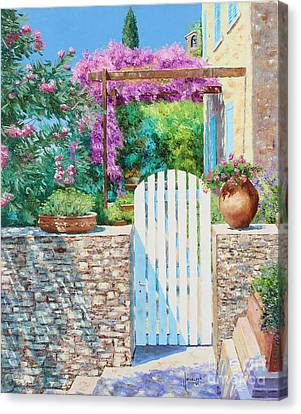 White Gate Canvas Print by Jean-Marc Janiaczyk