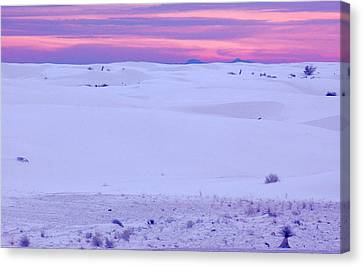 Canvas Print featuring the photograph White Sands New Mexico by Bob Pardue