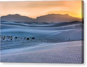White Sands Sunset Canvas Print