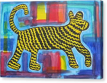 Wild Cat Canvas Print by Diane Pape