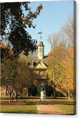 William And Mary College Canvas Print by Jacqueline M Lewis
