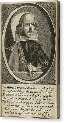 William Shakespeare Canvas Print by British Library