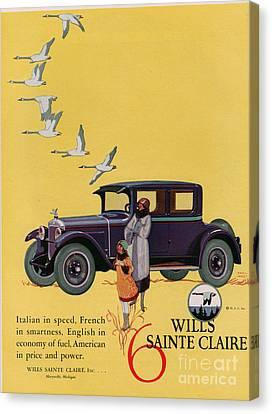 Wills Sainte Claire 1925 1920s Usa Cc Canvas Print by The Advertising Archives