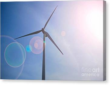 Wind Turbine Canvas Print by Amy Cicconi