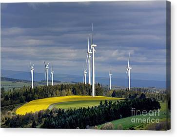 Wind Turbines Canvas Print - Wind Turbines by Bernard Jaubert