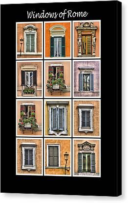 Windows Of Rome Canvas Print