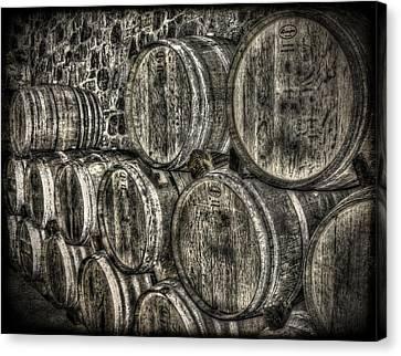 Wine Barrels Canvas Print by Deborah Knolle