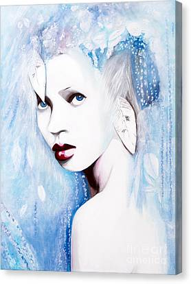 Canvas Print featuring the painting Winter by Denise Deiloh
