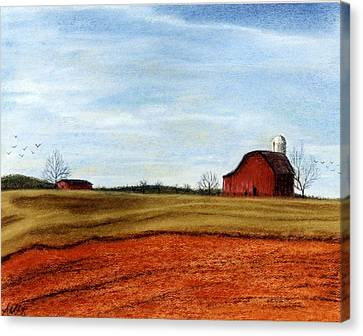 Winter Fields Canvas Print by Jan Amiss