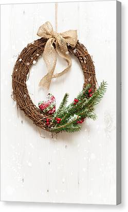 Winter Garland Canvas Print by Amanda Elwell