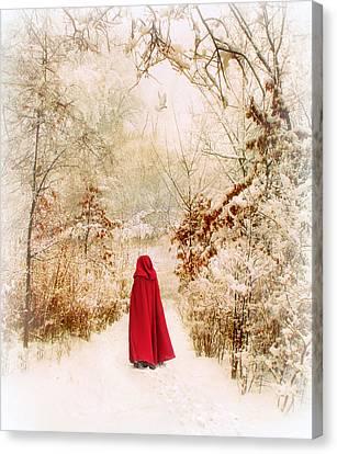 Winter Walk Canvas Print by Jessica Jenney