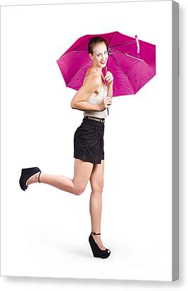 Woman With Umbrella Canvas Print by Jorgo Photography - Wall Art Gallery