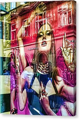 Prague Digital Art Canvas Print - Women by Justyna JBJart