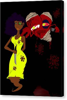 Women's Scorn Canvas Print by Andre Carrion