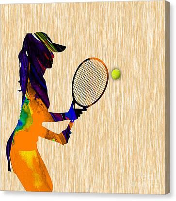 Womens Tennis Canvas Print
