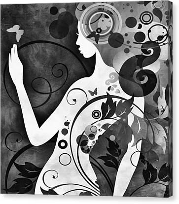 Wonder Bw Canvas Print by Angelina Vick