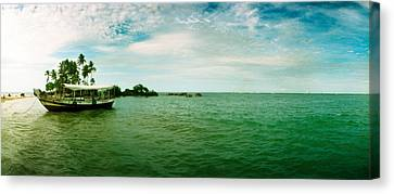 Wooden Boat Moored On The Beach, Morro Canvas Print by Panoramic Images