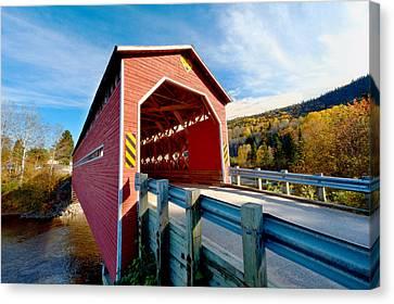 Wooden Covered Bridge  Canvas Print by Ulrich Schade