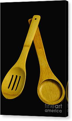 Wooden Spoons Canvas Print by Tikvah's Hope