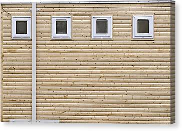 Wooden Wall Canvas Print