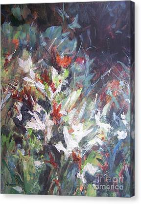 Canvas Print featuring the painting Woodland Bouquet by Mary Lynne Powers