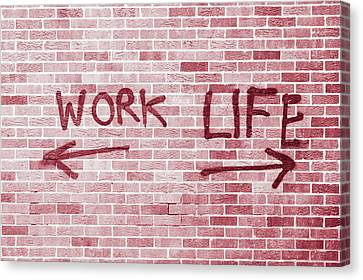 Work And Life Canvas Print by Tom Gowanlock